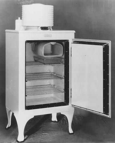 old fashioned fridge box